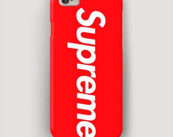 Red Supreme iPhone 6 Case, iPhone 7 Case, iPhone 6s Plus Case, iPhone SE Case, iPhone 4 Cover, Supreme Phone Case, Supreme Case iPhone
