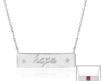 Hope Bar Necklace