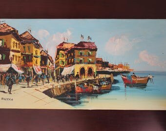Vintage Oil Painting Italy