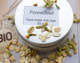 Anti age  face mask . Anti-wrinkle face mask. 100 % natural. 50 g