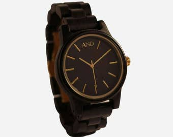 Watches AND wooden model Estérel sandal black