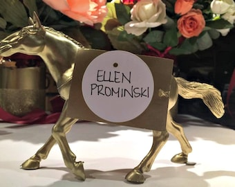 Chic Metallic Gold Animal Placecard Holders for Weddings, Parties, Events (Available in sets of 10, discounts for bulk orders)