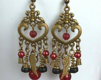 earrings, pair of earrings, bohemia