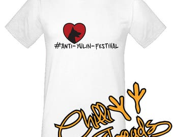 Anti yulin, stop yulin festival ,dog,puppy,love, peace T-Shirt, Tshirt