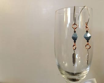 Hand Crafted Glass Metal Earrings