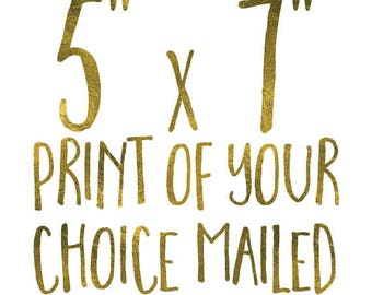 5x7 Print // Your wall art mailed to you from The Brilliant Print Co // High quality custom prints shipped right to you!