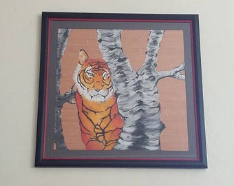 Acrylic Tiger Painting