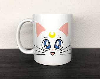 Sailor Moon Artemis 11 oz White Ceramic Mug