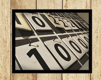 Scoreboard Photograph Digital Download