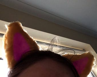 Custom two colour fursuit ears
