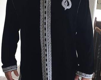 moroccan velvet  blazer