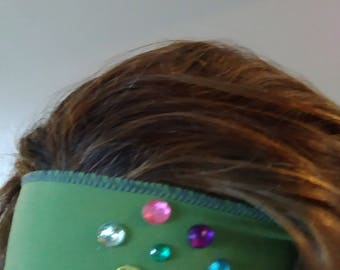 Green Adjustable and Stretchy Headbands!