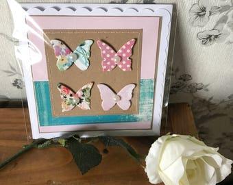 Handmade hand-stitched birthday card