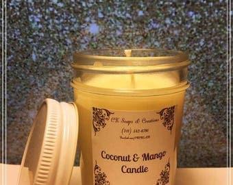 Coconut Mango 8 oz Candle