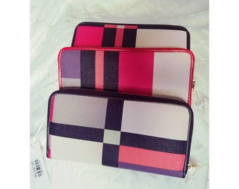 Multi-Color Zipper Wallet