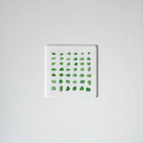 Sea glass picture Green