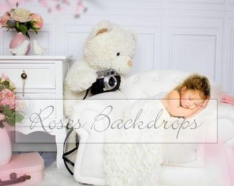 Digital background, scenery, newborn, vintage, 2 files!