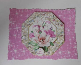 Pack 2 Magnola Bouquet *On your Retirement*Embellishment Toppers  for cards and crafts