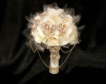 Bridal Wedding Heirloom Vintage Brooch Bouquet