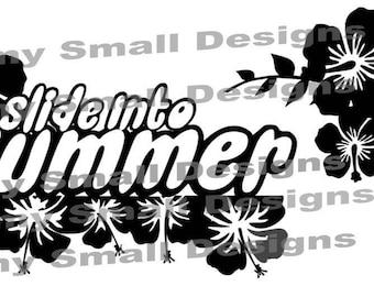 Slide into Summer Cutfile Title