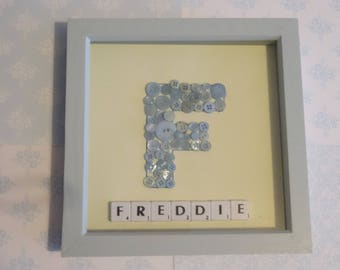 Personalised Button Initial Picture