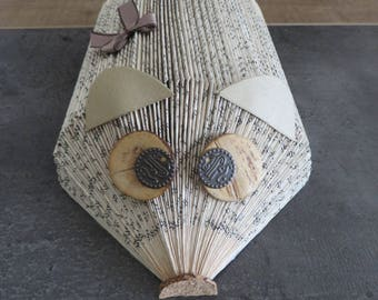 Mouse folded book