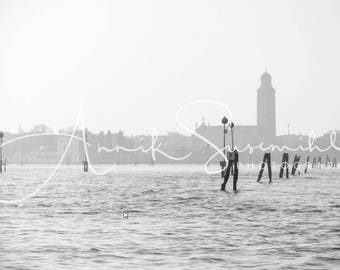Gift idea for friends of Venice: Venice - impressions in elegant black and white - unique wall decorations for every room!