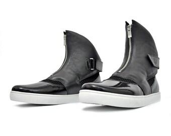 Exclusive designer high-top sneakers