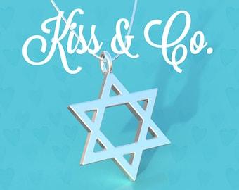 Necklace - Jewish Star/Magen David/Israel/Jewish/Judaism (~25x18mm)