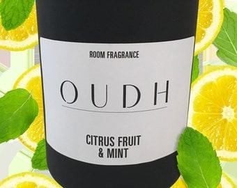 Oudh Citrus Fruit & Mint Soy Candle