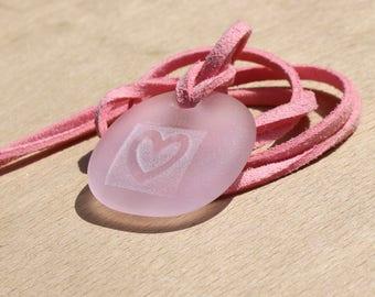 pink necklace summer necklace sea glass pendant beach jewellery sea glass necklace sea foam pendant beach wedding jewellery glass necklace
