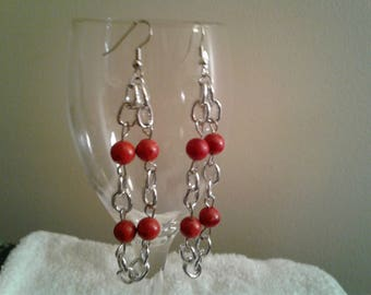 Georgous Red Coral earrings