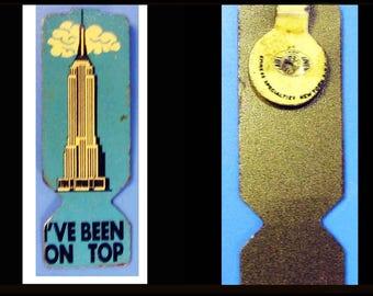 Original PIN Empire State Building-New York-50s-60s-I've een On Top-Skyscraper-Souvenir Vintage America