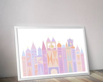 It's A Small World. Disney Printable Art. Instant Download - Wall Decor