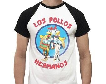 los pollos hermanos Breaking Bad Raglan Unisex Men Women Tee Shirt T-Shirts funny Gift birthday gift Printed