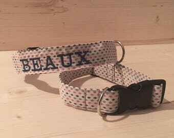 Embroidered Dog Collar, Personalized Collar, Custom