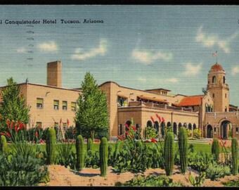 El Conquistador Hotel 1947 Postcard Tucson Arizona Hotel  AZ PC
