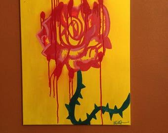 Bleeding Rose Painting