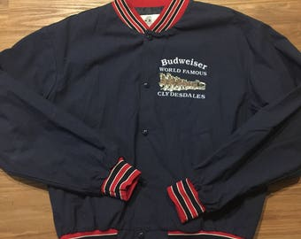 Vintage Budweiser clydesdale jacket 80s 90s