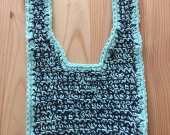 Teal and Navy Baby Bib