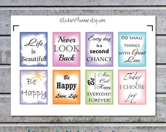 8 Inspirational Stickers Motivational Planner Inspirational Planner Motivational Stickers Motivational Quotes Inspirational Quotes (ib11-2