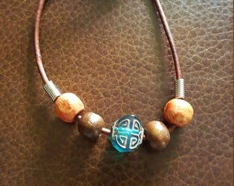 Earthy corded bracelet