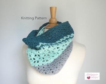 Crochet Cowl Pattern, Easy Crochet Pattern, Instant Download PDF, Neckwarmer Pattern, Tube Scarf Pattern, Worsted Yarn, Cascade 220
