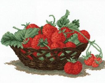 Cross-stitch Strawberries