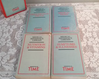 Vintage Time Medical Reference Library Books