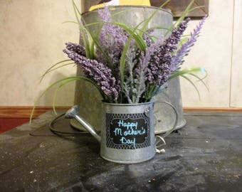 Lavender Watering Can with chalkboard message board