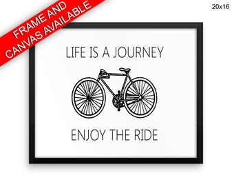 Life Is A Journey Prints  Life Is A Journey Canvas Wall Art Life Is A Journey Framed Print Life Is A Journey Wall Art Canvas Life Is A bike