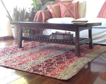Bohemian rug | Peruvian frazada | colourful throws | wool blankets | vintage rug