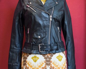 Biker Jacket Real Recycled Leather