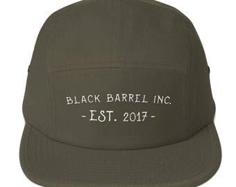 Black Barrel Inc. Cotton 5Panel Hat Olive